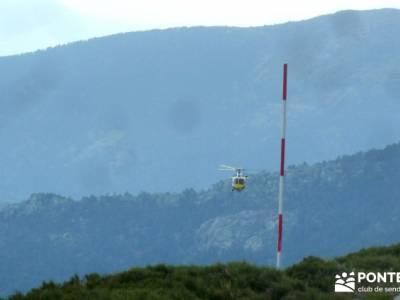 Senderismo Cuerda Larga; helicoptero emergencia; equipamiento trekking;excursiones desde valladolid